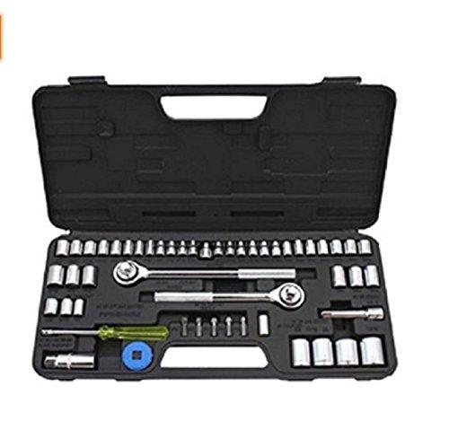 USA Premium Store 52pc Ratchet Socket Set Metric SAE 14 38 12 Drive Mechanics Tool  Case