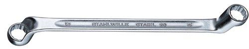 Stahlwille 20-10X13 Steel Offset Double Ended Ring Spanner 10mm x 13mm Diameter 220mm Length 20mm Width
