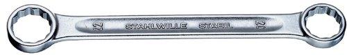 Stahlwille 21-12X13 Steel Straight Double Ended Ring Spanner 12mm x 13mm Diameter 150mm Length 195mm Width