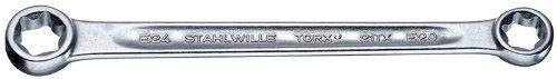 Stahlwille 21TX-E14XE18 Steel Female Torx Double Ended Ring Spanners E14 x E18 Torx Size 185mm Length 225mm Width