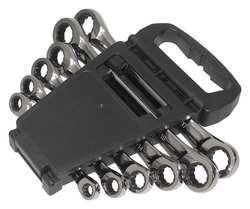 Westward 1LCF2 Ratcheting Box Wrench Set mm 6 PC by WestWard Tools