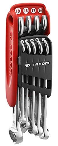 Facom 440Jp9pb Combination Spanner Set 9 Piece Metric