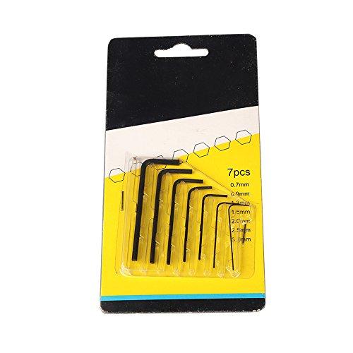 OMG_Shop 07mm-3mm Mini Micro Hexagon Hex Allen Key Set Wrench Screwdriver 7Pcs Tool Kit