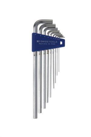 PB Swiss 211H-10 Long Chrome HexAllen Key Set