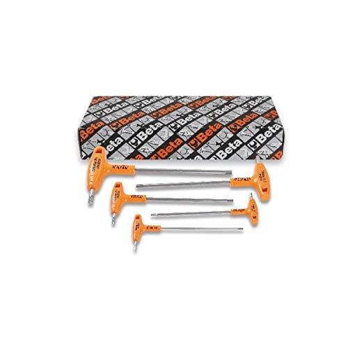 Beta INOX Stainless Steel T-Handle Hex Key Set - 5-Pc Metric 25-6mm Model Number 96TINOXS5