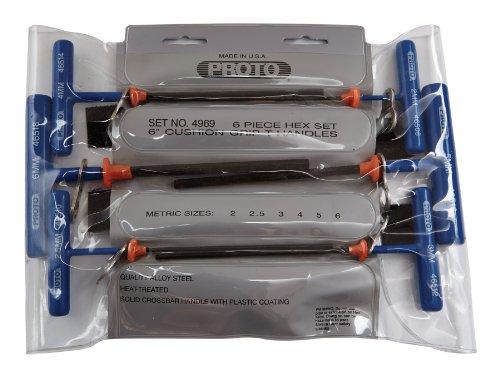 Stanley Proto Tether-Ready J4969-TT 6 Piece Metric T-Handle Hex Key Set
