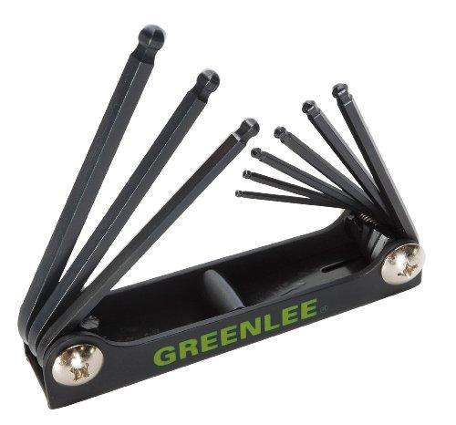 Greenlee 0254-12 Folding Ball-End Hex-Key Set 9-Piece