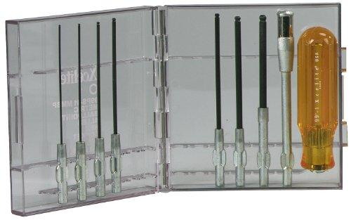 Xcelite 99PS41MMBP 9-Piece Series 99 Ballpoint Allen Hex Socket Screwdriver Set