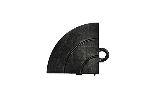 Speedway Garage Tile C789453B Garage Floor Interlocking Ramp Edges Corner Black