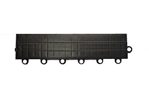 Speedway Garage Tile F789453B Garage Floor Female Ramp Edges with Loops Black
