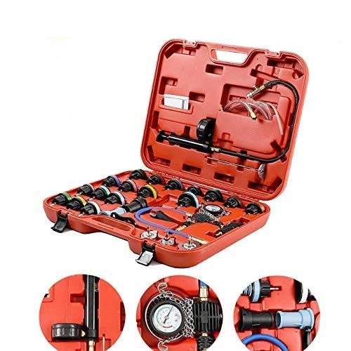 28 PCS Universal Radiator Pressure Tester Leak Checker KitCoolant Vacuum Type Cooling System Automotive Radiator Pressure Test Kit Purge and Refill Kit Coolant Pressure TesterwCase0-35 psi