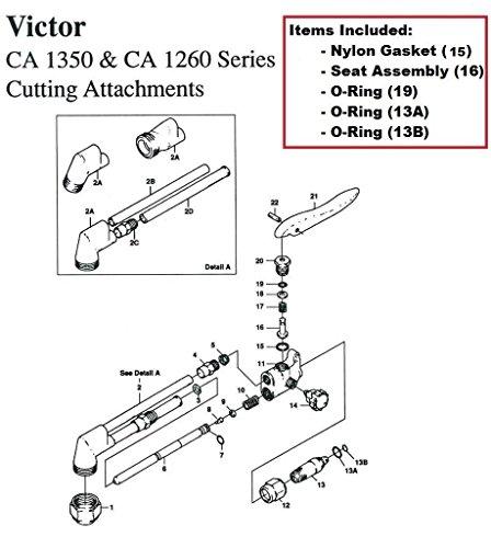 Victor CA1350 CA1260 Cutting Torch RebuildRepair Parts Kit CA25 CA270