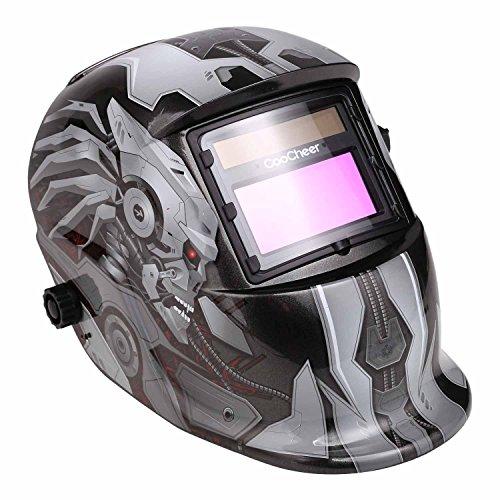 Coocheer Auto Darkening Welding Helmet With Solar Powered Adjustable MIG TIG ARC Professional Welding Mask monster