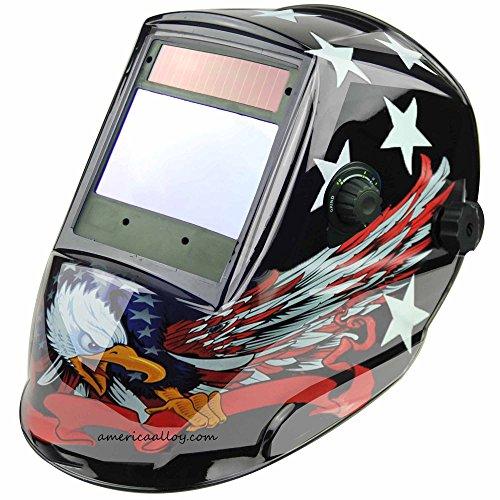 Solar Powered Auto Darkening Welding Helmet 4x37 SUPER VIEW 4 premium sensors