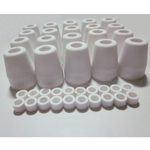 20 Sets 40Amp Ceramic Shield Cups and Gas Diffusers for Air CUT40D CUT50D PT-31 LG40 Plasma Cutting Torch