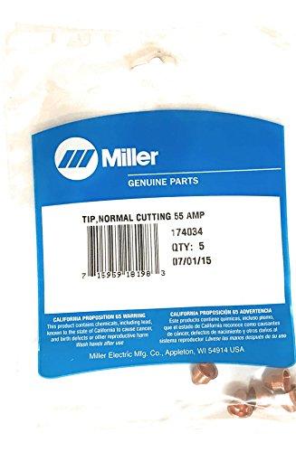 Miller Plasma Cutting Tip 55 Amp - 174034  PK5