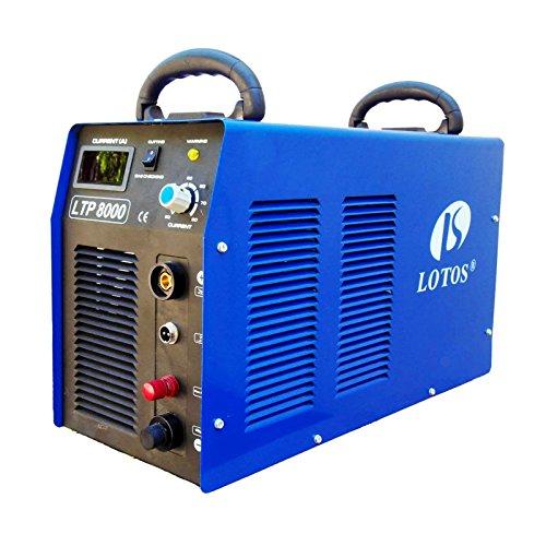 Lotos LTP8000 80Amp Non-Touch Pilot Arc Air Plasma Cutter 1 Inch Clean Cut