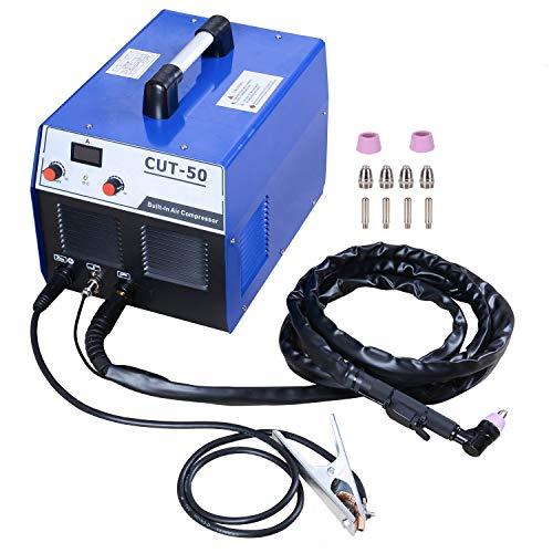 S7 50 Amp Built-In Air Compressor Plasma Cutter Portable Plasma Welder Plasma Cutting Machine IGBT Inverter Digital Plasma Welding Machine