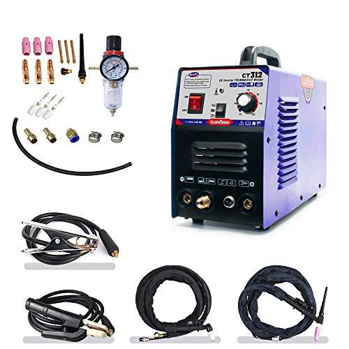 TIGMMA Air Plasma Cutter - Tosense CT312 3 in 1 Combo Welding Machine120A TIGMMA 30A ARC Plasma Cutter Dual Voltage 220V110V
