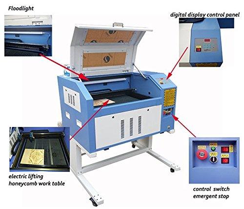 kohstar 50608090W 4060 laser engraving cutting machine wooden engraver machine with ruida system support offline work