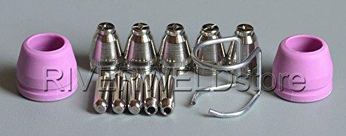 WSD-60P P60 Plasma Cutter Electrodes Tips Nozzles 12mm 60Amp Kit Pilot ARC Consumables 13pcs