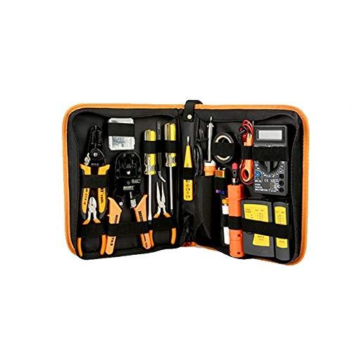 YJIU Screwdriver Set 17 in 1 Hand Tool Set Electronic Maintenance Repair Tools Kit Electric Soldering Iron Kit Pliers Tweezers Digital Multimeter Set