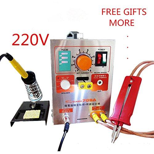 19KW 220V SUNKKO LED Pulse Battery Spot Welder 709A with Soldering Iron Station Spot Welding Machine 18650 16430 14500 battery