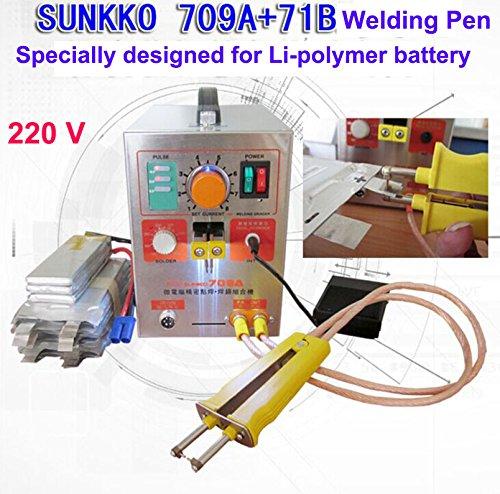 1900W 220V Pulse Battery Spot Welder 709A Soldering Iron Station 71B Welding Pen for 18650 16430 14500 battery Li-Polyer pack