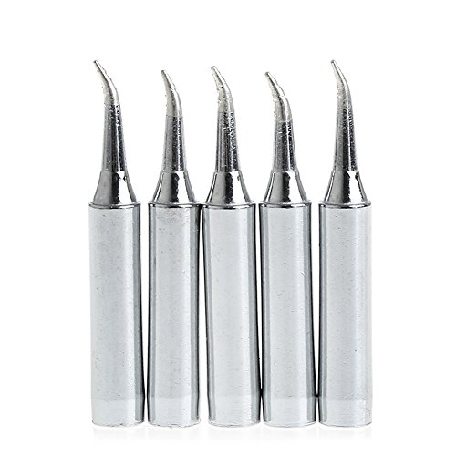 Hunulu New 5Pcs 900M-T-IS Lead Free Solder Iron Tips for Soldering Rework Station