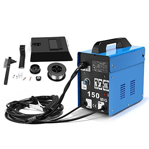 MIG 150A Welder Flux Core Wire Automatic Feed Welding AC Welder Gasless Machine Free Mask NO Gas