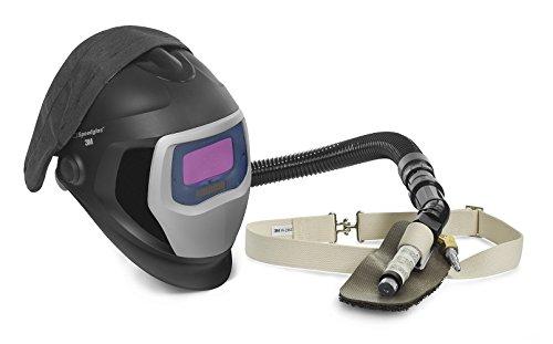 3M Speedglas Fresh-Air III Supplied Air System with V-100 Vortex Air-Cooling valve and Speedglas Welding Helmet 9100-Air 25-5702-10SW with SideWindows and Auto-Darkening Filter 9100V Shades 5 8-13