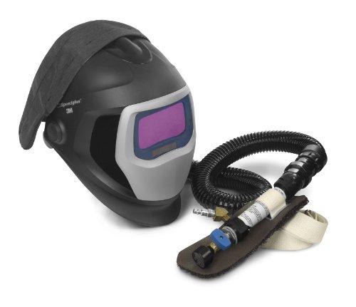 3M Speedglas Fresh-Air III Supplied Air System with V-200 Vortemp Air-Heating valve and Speedglas Welding Helmet 9100-Air 25-5802-20SW with SideWindows and Auto-Darkening Filter 9100X Shades 5 8-13