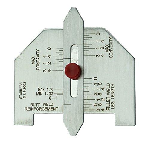 WeldingCity Automatic Weld Size Gauge Butt and Fillet Weld Welding Gauge