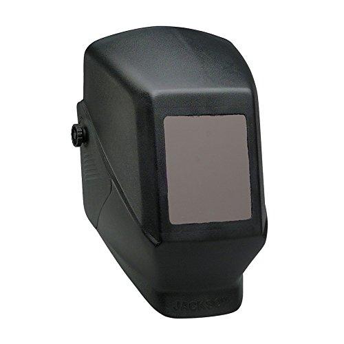 KIM CLARK 15134 Jackson Safety JHSL100 Shade 10 Passive Welding Helmet 4 12 x 5 14 Fixed Front Black