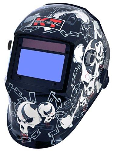 K-T Industries 4-1075 Crossbones Auto Darkening Welding Helmet