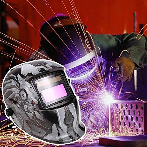 Solar Powered Welding Helmet Adjustable Auto-Darkening Helmets