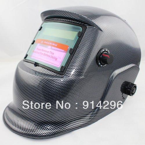 Fully Automatic Solar Auto Darkening Black Carbon Fiber MIG Tig Arc MAG Welding Helmet Mask