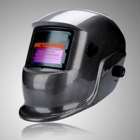 Professional Grade Welding HelmetHood Auto Darkening Argon Arc welding TIGTIG Pulsing MIG MAG Electrode Plasma cutting and Grinding Gray and Black