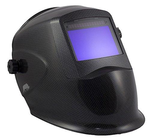 RHINO LARGE VIEW  GRIND Auto Darkening Welding Helmet - CARBON FIBER RH01