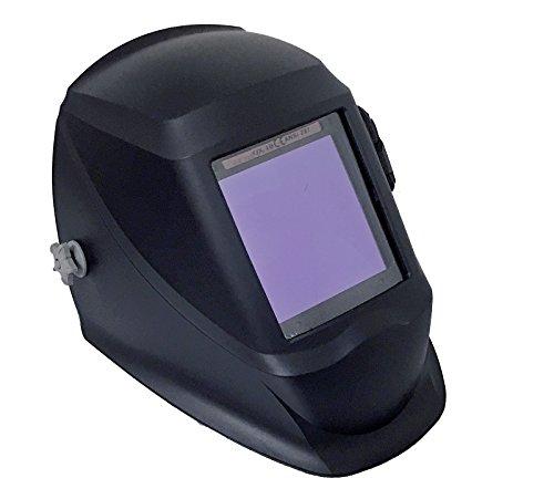 Instapark ADF Series GX990T Solar Powered Auto Darkening Welding Helmet with 4 Optical Sensors 394 X 386 Viewing Area and Adjustable Shade Range 5 - 13 Glossy Black