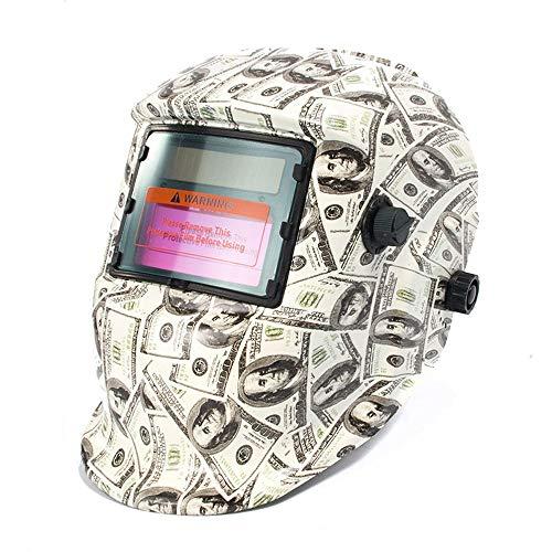 Solar Powered Welding Helmet Auto Darkening Hood with Adjustable Shade Range 49-13 for Mig Tig Arc Welder Mask Dollar