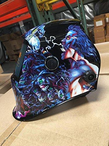 USA Seller DDBB Auto Darkening Solar Powered Welding Helmet Hood Mask with Grinding Function