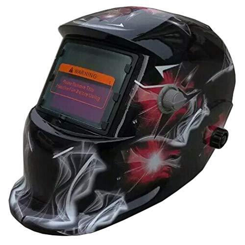 Yardwe Solar Powered Welding Helmet Solar Automatic Durable Soldering Helmet With Color Box Welding Helmet for Use Welding Soldering