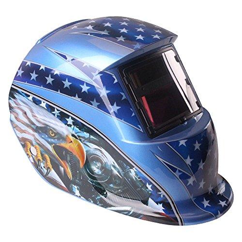 Kukoo ADF Series Adjustable Auto Darkening Solar Welding Helmet Mask wide shade 9-13 with EN and ANSI Z87Certified