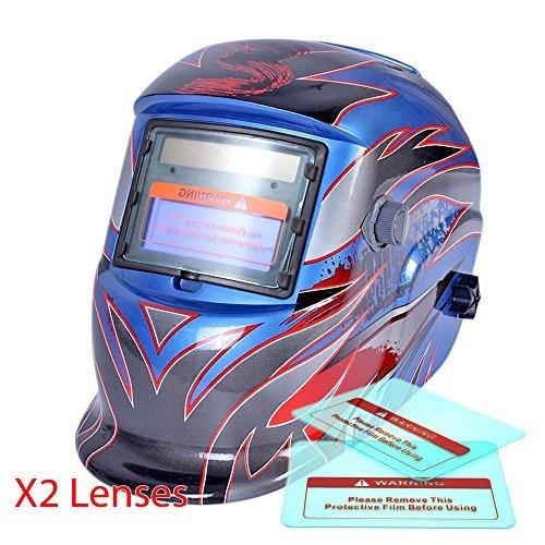 Proelectirc Viking Blue Professional Auto Darkening Solar Powered Welders Welding Helmet Mask With Grinding Function