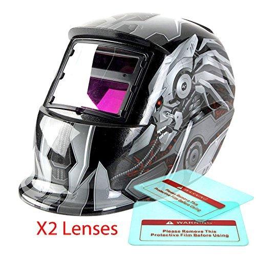 Proelectric Robot 1 Print Professional Auto Darkening Solar Powered Welders Welding Helmet Mask With Grinding Function