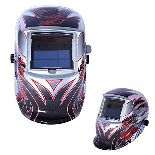 Sun YOBA Protection Auto Darkening Solar Welders Welding Helmet Mask Grinding Function Silver 16