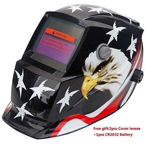 Z ZTDM Welding Helmet Mask Pro Solar Auto DarkeningAdjustable Shade Range DIN 9-13Grinding DIN 4ARC MIG TIG2pcs Extra LensCR2032 BatteryCE EN379 ANSI Z871