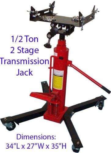 12 Ton Hydraulic Transmission Jack Lift Telescopic 2 Stage 1000 LB Capacity