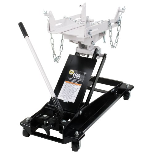 Omega 41100C Black Low Profile Hydraulic Transmission Jack - 1100 lb Capacity